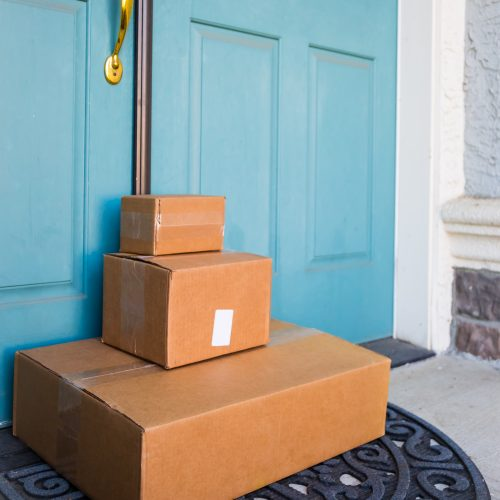 Boxes delivered to front door